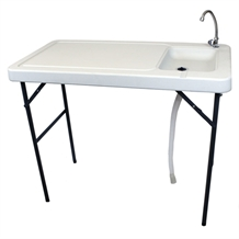 OPEN BOX PS Fish Fillet & Hunting Table with Sink