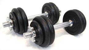 CONFIDENCE 40 LB DUMBBELLS WEIGHTS SET