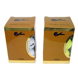 12 Confidence PURE GOLD Tour Distance Golf Balls
