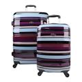 Swiss Case 4 Wheel 2pc Suitcase Set COLORFUL