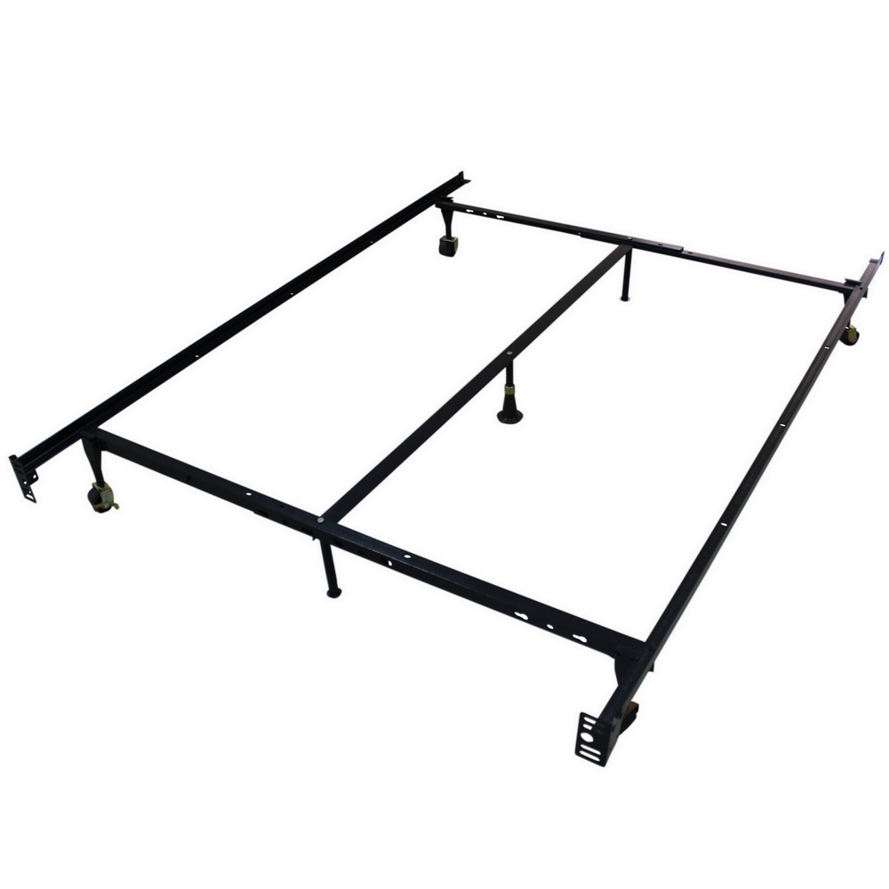 Adjustable Bed Frames Queen : Homegear heavy duty leg metal platform bed frame