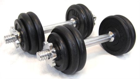 CONFIDENCE 40 LB DUMBBELLS ADJUSTABLE WEIGHTS SET
