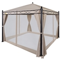 Palm Springs 10'x10' Patio Canopy w/ Mosquito Net