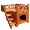 Confidence Pet Wooden Dog House with Balcony