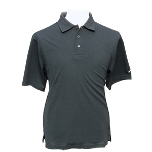 Palm Springs Mens Solid Golf Polo Shirt BLACK