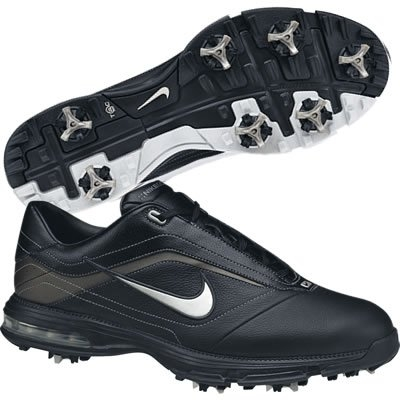Nike Mens Air Academy Black/Gunmetal Golf Shoes