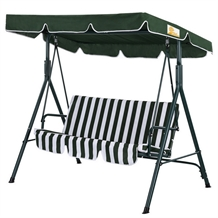 Palm Springs Garden 3 Seater Swing Chair w/ Canopy