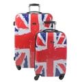 Swiss Case 4 Wheel 2pc Suitcase Set UNION JACK