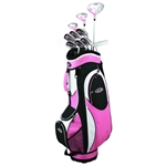 Golf Girl LADY LEFTY FWS2 Clubs Set & Pink Bag