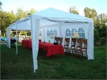 OPEN BOX 10' x 30'  White Party Tent w/ Sidewalls