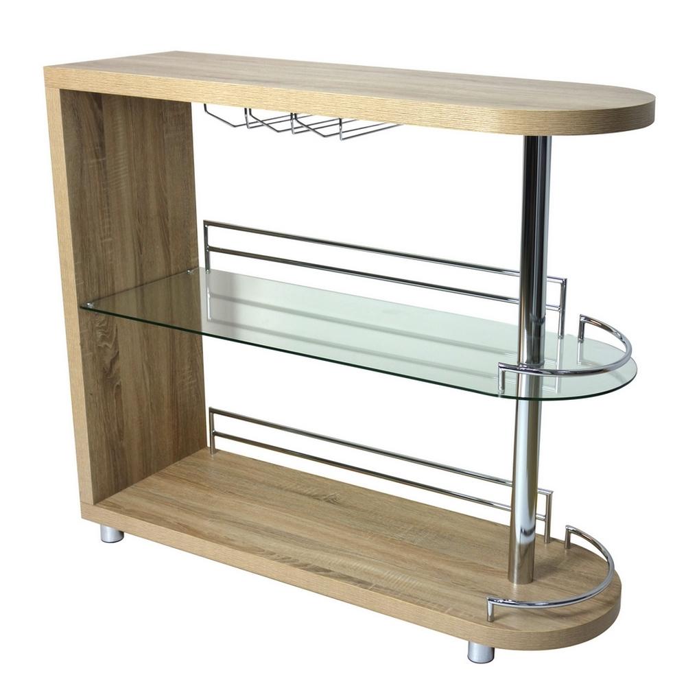 Homegear Deluxe Kitchen Bar Unit / Table - Oak