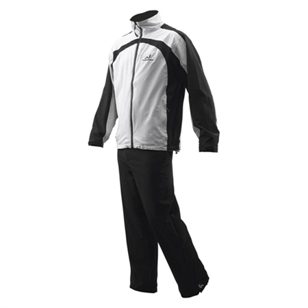 Woodworm Waterproof Men's Golf Rainsuit White/Blk
