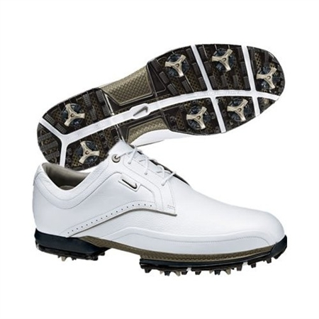 Nike Mens Tour Premium White/Chino Golf Shoes
