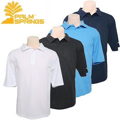 Palm Springs Golf Mens Polo Shirt 4 pack