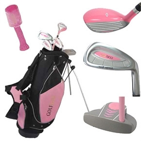 Golf Girl Pink Junior Set inc Bag