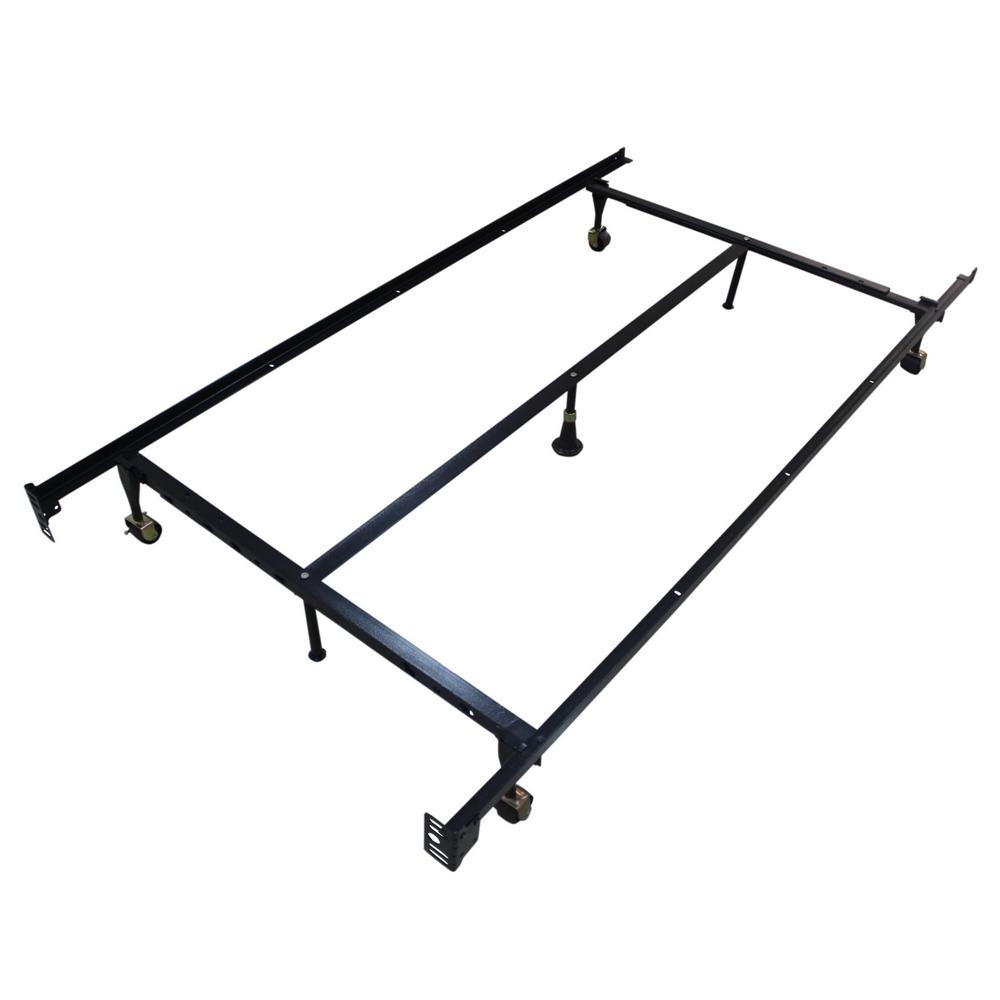Adjustable Bed Frame For Platform Bed : Homegear heavy duty leg metal platform bed frame