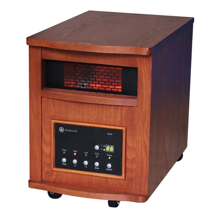 Homegear Deluxe 1500W Infrared Heater Dark Oak