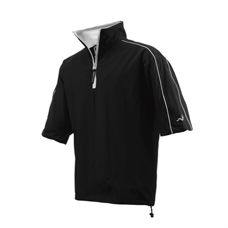 Woodworm Half-Sleeve Waterproof Rain Jacket BLACK