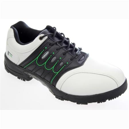 Forgan IWD Waterproof Mens Golf Shoes WHITE/BLACK