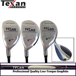 Texan Classics LEFTY HOT FACE HYBRID CLUBS 2-3-4