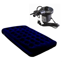 North Gear Fleece Double/Full Air Bed + Air Pump