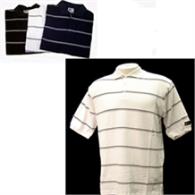 Confidence Classic Stripe Mens Golf Shirt