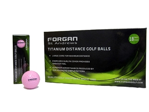 Forgan Golf Titanium Distance Golf Balls PINK