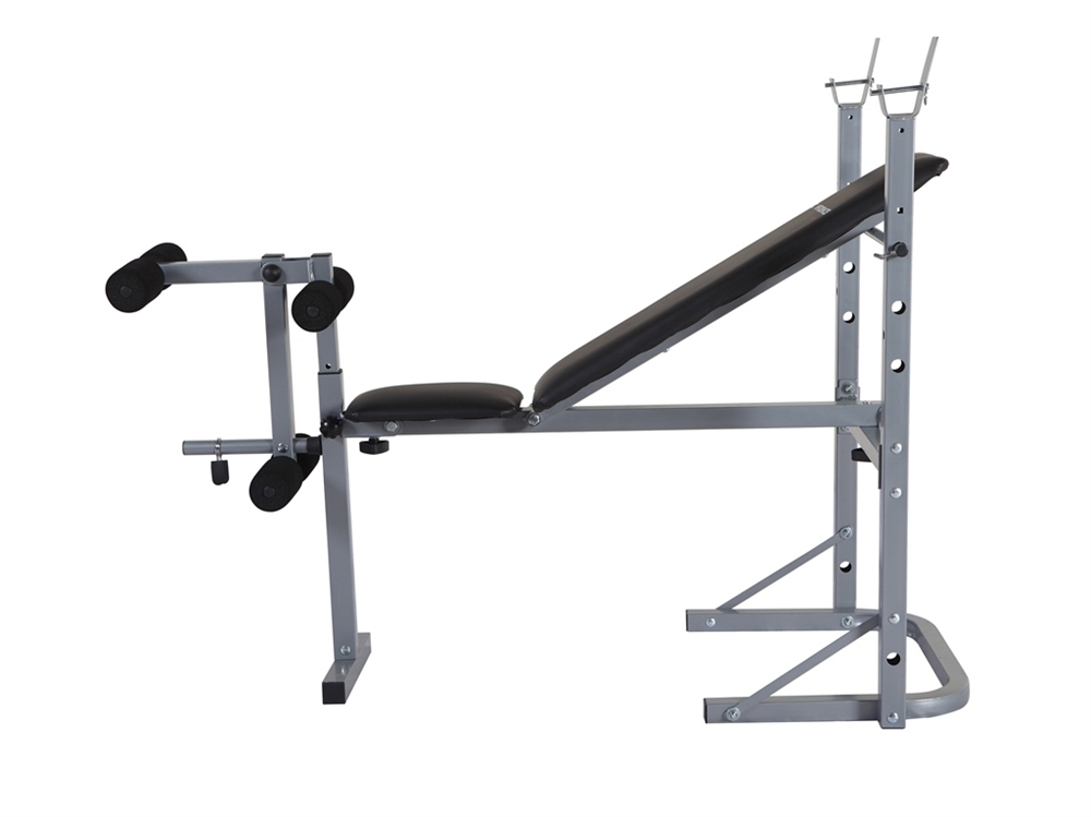 Confidence Fitness Home Multi Gym Dumbbell Weight Lifting Bench W Leg Extension Ebay