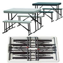 Palm Springs Portable 3 PC Picnic Table Set