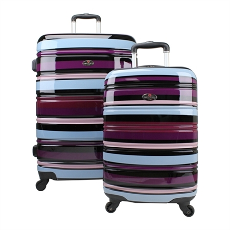 Swiss Case 4 Wheel 2pc Suitcase Set COLORFUL
