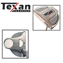 Texan HOT WHITE BALL LEFTY PUTTER 35
