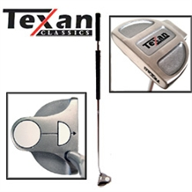 TEXAN CLASSICS HOT WHITE BALL LEFTY BELLY PUTTER