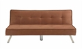 Homegear Modern Microfiber Sofa Bed Chocolate