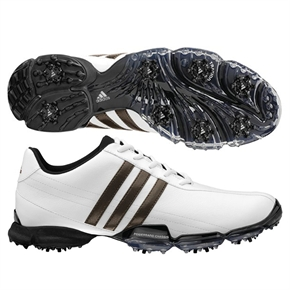 Adidas Men's Powerband Grind Golf Shoes in WHITE