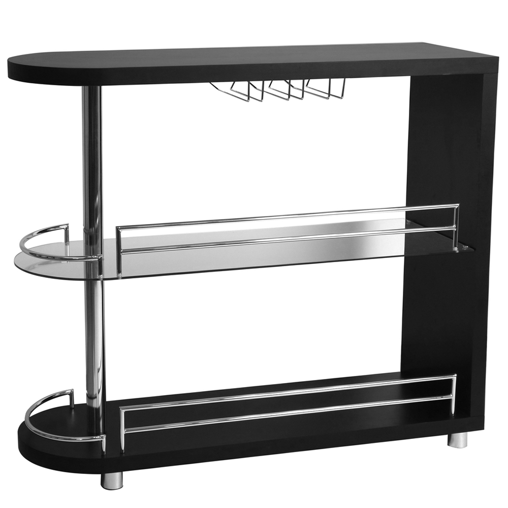 Homegear deluxe kitchen bar table black ebay for Table 6 kitchen and bar