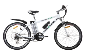 Cyclamatic Power Plus Electric Bike - White
