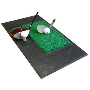 Forgan Chip and Drive Mat- 2' Rubber/Turf Area