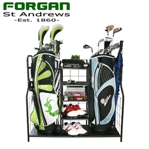 Golf Gear & Bag Organizer - Ideal for the Garage