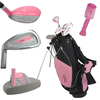GolfGirl Pink Junior Set with Stand Bag