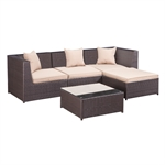 Palm Springs Rattan 5 Piece Patio Furniture Set