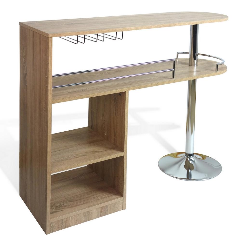 homegear deluxe kitchen bar unit table oak ebay