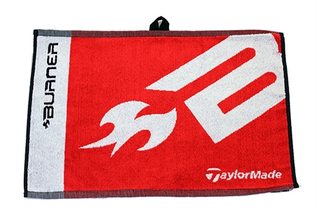 TaylorMade Red Burner 16x24 Woven Golf Cart Towel