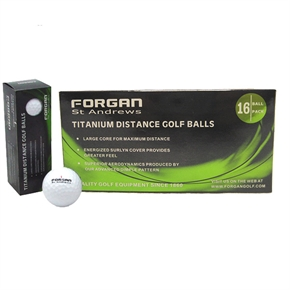 16 Forgan TT Golf Balls with Personalized Text