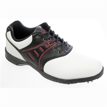 Confidence White/Black Mens Waterproof Golf Shoes