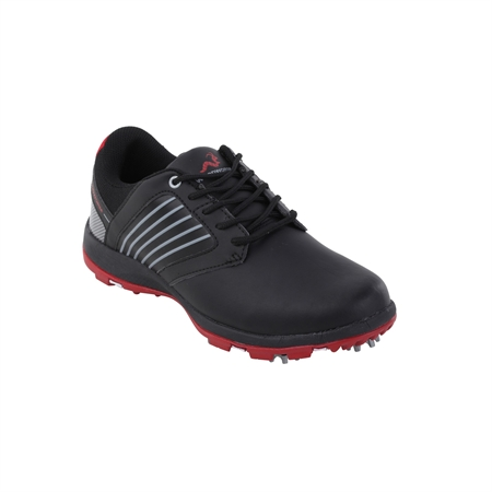 Woodworm Player V2 Leather Golf Shoes Black/Black
