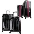 Swiss Case 4 Wheel 2pc Suitcase Set BLACK/PURPLE