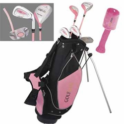 GOLF GIRL Junior Clubs Set w/PINK STAND BAG