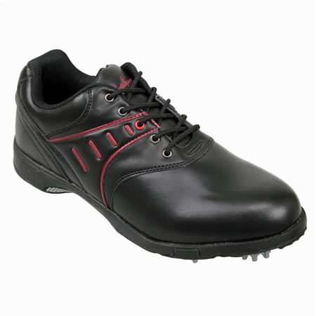 Confidence Black Mens Waterproof Golf Shoes