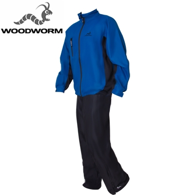 Woodworm Waterproof Mens Golf Rainsuit Blue