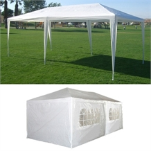 OPEN BOX 10' x 20' White Party Tent with Sidewalls